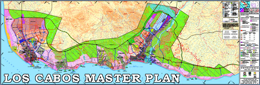 Map of the Los Cabos, Cabo San Lucas Master Development Plan